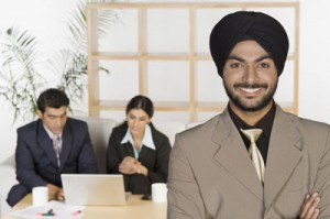 Punjabi Man in Suit Smiling